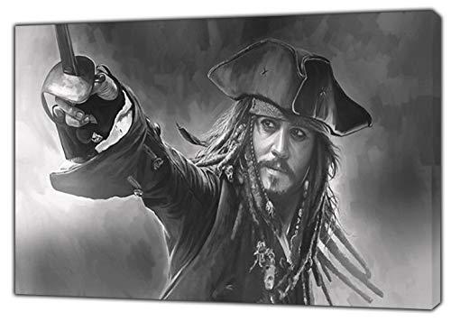 Johnny Depp Bild Druck gerahmt Leinwand Kunstdruck, 30 x 24 inch-18mm depth -