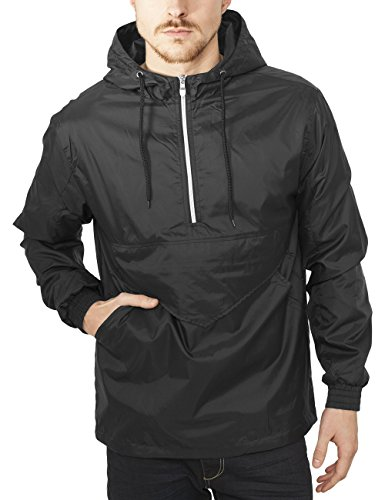 Urban Classics TB1019 Herren Jacke Pull Over Windbreaker, Gr. Large, Schwarz (black 7)