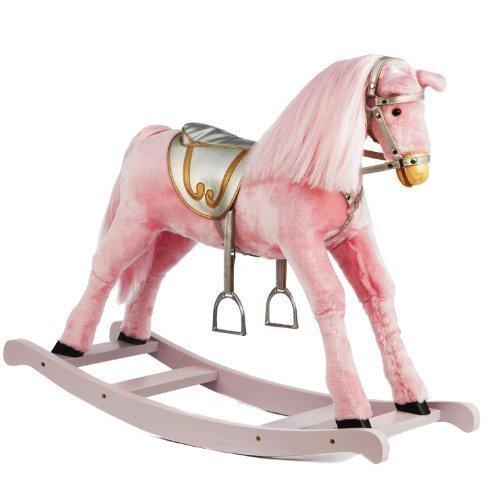 Girls Medium Size Pink Rocking Horse