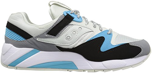 Saucony Grid 9000, Pompes à Plateforme Plate Mixte Adulte Light Grey/Black/Grey