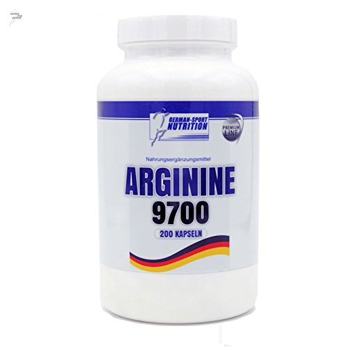 L-Arginin Kapseln Arginin 9700, Aminosäure L-Arginine 200 Caps Hochdosiert