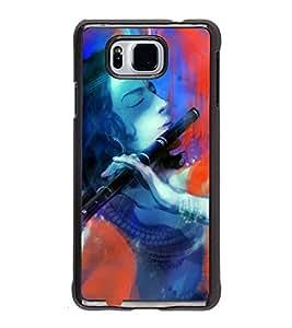 FUSON Kishna Playing Murali Designer Back Case Cover for Samsung Galaxy Alpha :: Samsung Galaxy Alpha S801 :: Samsung Galaxy Alpha G850F G850T G850M G850Fq G850Y G850A G850W G8508S :: Samsung Galaxy Alfa