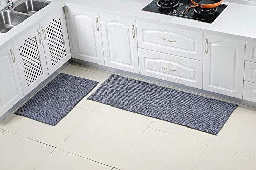 Dricar Tappeto per Cucina, 2 Pezzi tappetini da Cucina, Antiscivolo,  Lavabile, Lunga, Piano di Lavoro Tappetino tappetini per Cucina Bagno  Soggiorno ...