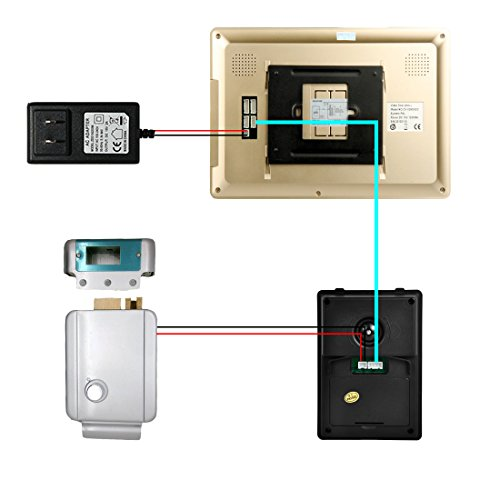 PUTECA PUTECA 10 inch LCD Golden Touch-tone Indoor Unit LCD 700TVL 5 IR LED Night vision Camera Wire Video Door Phone Doorbell Intercom System 1 VS 1