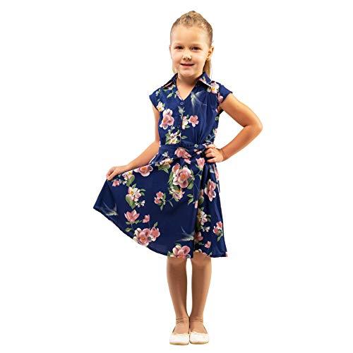 51f0f964e78873 Miss Lavish London Kleider für Mädchen und Kinder, Vintage-Stil, mit  Knopfleiste,