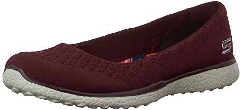 Skechers Microburst-One-Up Donna US 8.5 Rosso Mocassini