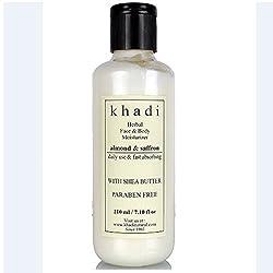 Khadi Natural Almond and Saffron Moisturizer (Paraben Free) (210 ml)