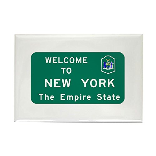 CafePress – Welcome To New York – USA – Rechteck Magnet, 5,1 x 7,6 cm Kühlschrank Magnet Magnet Kühlschrank Abdeckung