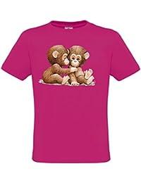 Ethno Designs Wildlife - Tiermotiv Säugetiere - Affen T-Shirt für Mädchen - Two Chimpanzees - regular fit