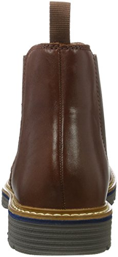 Clarks Newkirk Hill, Bottes Chelsea Homme Marron (Mahogany Leather)