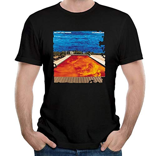 DeATfr Men's Red Hot Chili Peppers Californication Cotton Tshirt Black,Black,XX-Large (Red Hot Chili Peppers Baby)
