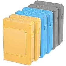 [6 Pack] Inateck de 3,5 pulgadas disco duro caso del recinto antiestático caja de protección de disco duro de 8,9 cm de 3,5 pulgadas, disco unidades, a prueba de polvo / a prueba de choques / impermeable