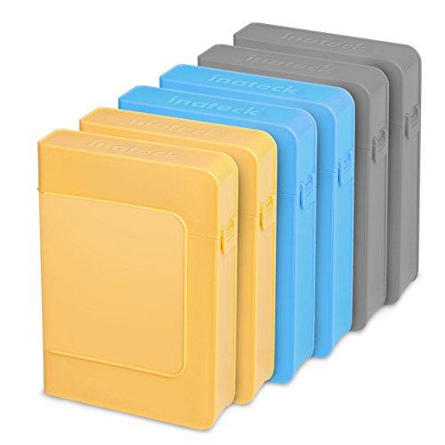Inateck HPE x6 Plastik Schutzhüllen für 8.9 cm 3,5 Zoll Festplatten Festplattengehäuse/HDD Festplatten-Gehäuse/Enclosure