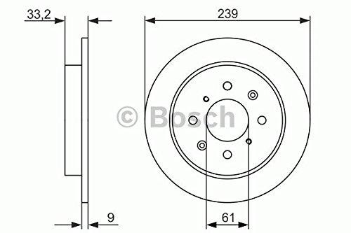 Preisvergleich Produktbild 2 Stck Bosch Bremsscheiben