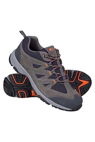 Mountain Warehouse All Terrain Schuhe für Herren - Laufsohle 100% Gummi, Flexibel, Leicht, Schuhe mit Netzfutter - Für Wandern im Frühling, Laufen, Sport, Bergwandern Dunkelgrau 41
