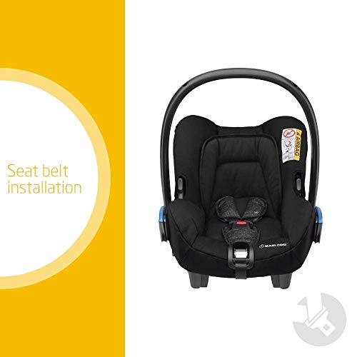 Maxi-Cosi Citi Group 0+ Baby Car Seat, Ultra Lightweight Car Seat, 0-12 Months, 0-13 kg, Nomad Black