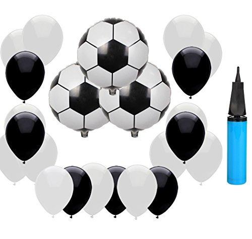 Hemore - Globos de fútbol DE 45,7 cm, 2018, diseño Deportivo para Fiestas, diseño de Globos