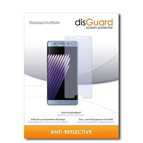 disGuard® Bildschirmschutzfolie [Anti-Reflex] kompatibel mit Samsung Galaxy Note 7 [2 Stück] Entspiegelnd, Matt, Antireflektierend, Extrem Kratzfest, Anti-Fingerabdruck - Panzerglas Folie, Schutzfolie