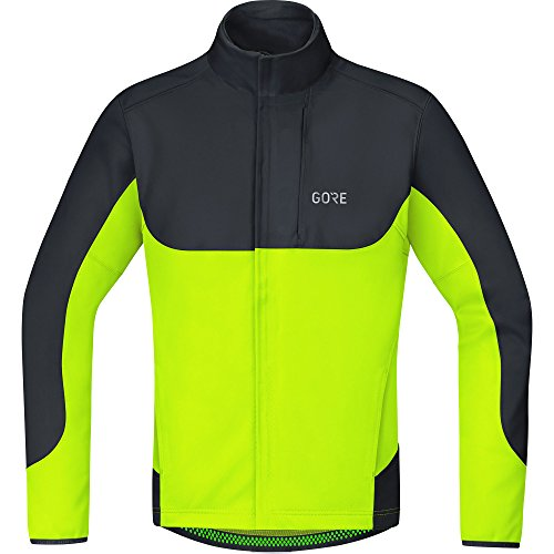 GORE Wear Winddichte Herren Fahrrad-Jacke, C5 GORE WINDSTOPPER Thermo Trail Jacket, M, Neon-Gelb/Schwarz, 100376 Trail Thermo