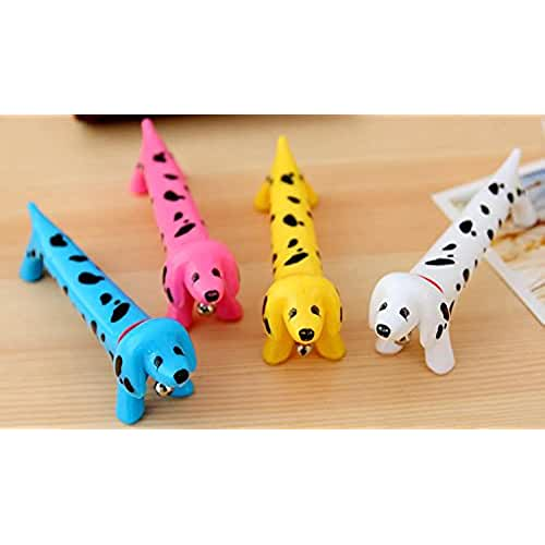 ideas regalos para comuniones kawaii 6pz Bolígrafo de bola multicolor perro dálmata perro canina con un timbre tocando