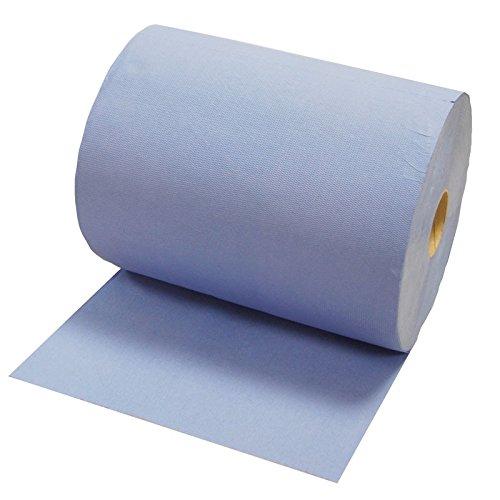Preisvergleich Produktbild 2x Putzrolle Komfort (3-lagig) 1000 Abrisse in blau, Papier-Rolle, Putztuch, Putzpapier