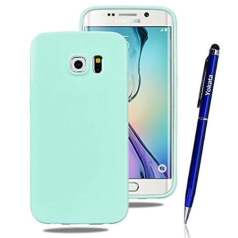 Samsung Galaxy S6 Edge Hülle, Yokata Einfarbig Jelly Weich Silikon
