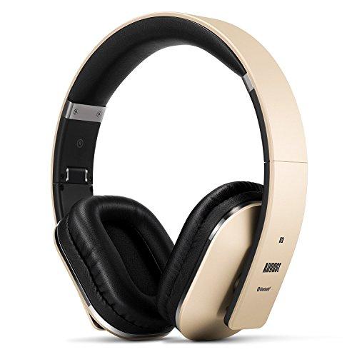 August EP650K, Cuffie Stereo Senza Fili Bluetooth v4.2, Circumaurali con NFC aptX e Funzione Multipoint Multipair, Oro