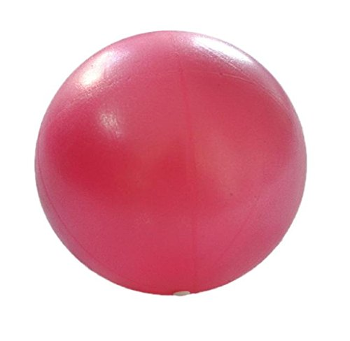 HARRYSTORE Durchmesser 25cm Gymnastikball Übung Fitness Glatt Pilates Yoga Ball (Rosa) -