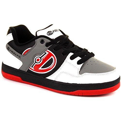 Heelys Flow 770608, Jungen Lauflernschuhe Sneakers Elfenbein (White / Black / Grey / Red)
