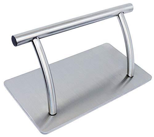 Lovecrazy - poggiapiedi in metallo per poltrone di parrucchiere, 2misure tra cui scegliere, colore argento grande