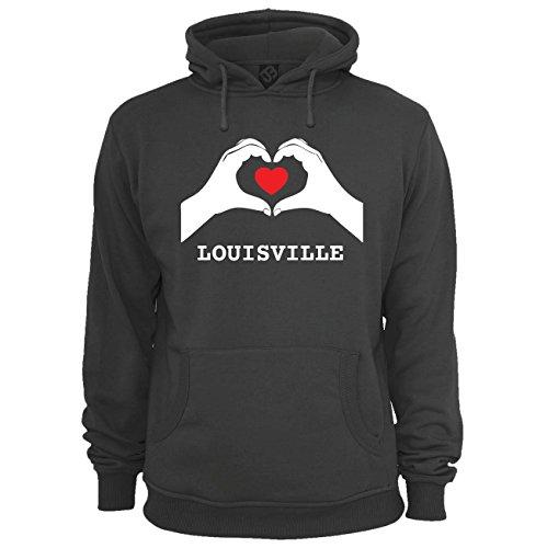 JOllify Unisex Pullover Louisville H4368 - Farbe: schwarz - Design 7: Hände Herz - Größe XXXL 3XL