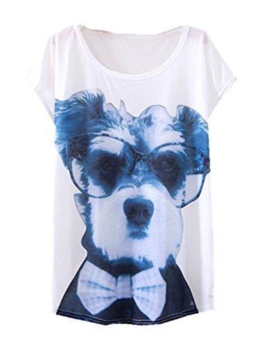 YICHUN Damen T-Shirt Mehrfarbig mehrfarbig One size Chien 8#