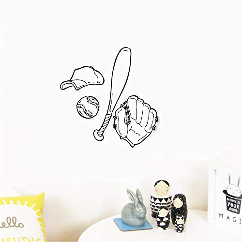 Wandaufkleber Schlafzimmer Baseball Sport American Spiel für Sport Fans Boys Room