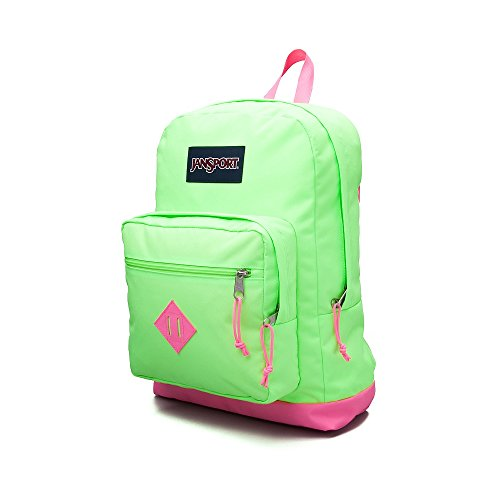 Best JanSport Superbreak Backpack (Bright Green/Pink 17530) on Line