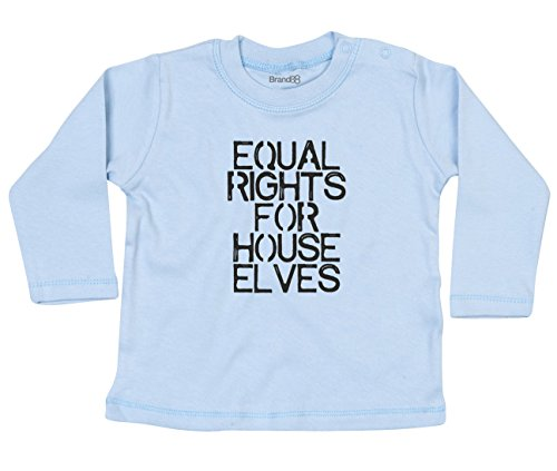 Equal Rights For House Elves, Baby T-Shirt Lang Arm - Hellblau 6-12 Monat