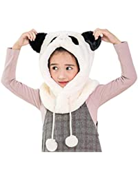 Mitlfuny Niños Niñas Sombreros de Felpa para Bebé Invierno Grueso Caliente  Gorro Dibujos Animados de Panda de3dad3640f