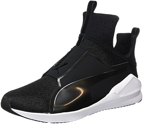 Puma Fierce Eng Mesh, Baskets Basses Femme Noir (Black/White)