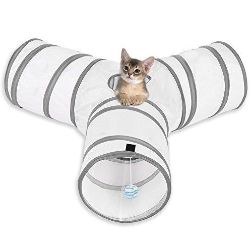 Cat-Play-Tunnel-MFEI-Pet-Tunnel-3-Way-Crinkle-Tubo-pieghevole-Tunnel-giocattolo-per-gatti-Conigli-Cani-Animali-domestici
