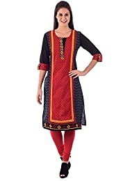 House of Tantrums Embroidered Red Kurta