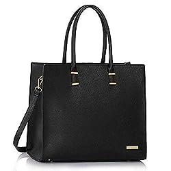 Damen Handtasche Schultertasche Tasche Large Umhängetasche Entwerfer Shopper Henkeltasche, (Schwarz)
