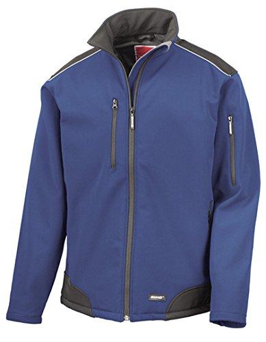 Résultat R124 a Ripstop Softshell Workwear Veste XXXXL Bleu Roi/Noir