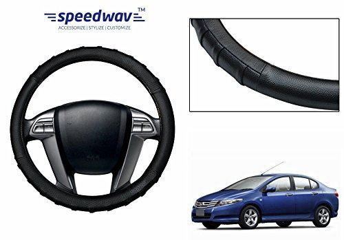 speedwav grippy sc106m leatherette car steering cover black m-honda city new Speedwav Grippy SC106M Leatherette Car Steering Cover Black M-Honda City New 41A5q2fGtDL