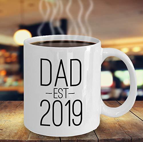 FloradeSweet Neue Vati-Geschenke Kaffee Haferl Vati Est 2019 erstes Mal-Vater-Neue Vati-Geschenke f¨¹r neuen Vater des Vati-neuen Baby-ersten Vatertags (Ersten Mal Vater Geschenke)