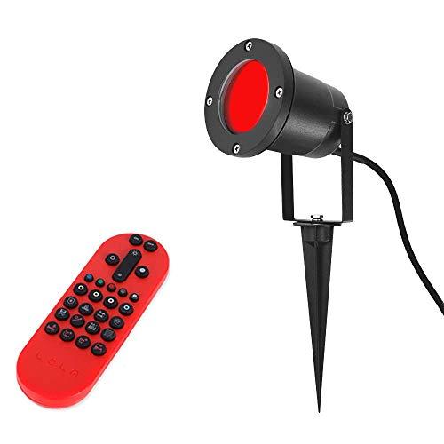 LED Außenstrahler 4,3W schwarz schwenkbar | Erdspieß Spot mit RGB Farbwechsel | Strahler Edelstahl gebürstet | Außenleuchte inkl. Fernbedienung | Leuchte + LED Leuchtmittel