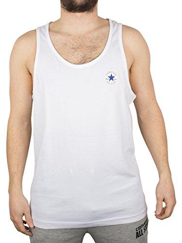 Converse Uomo Left Logo Vest, Bianco, Medium