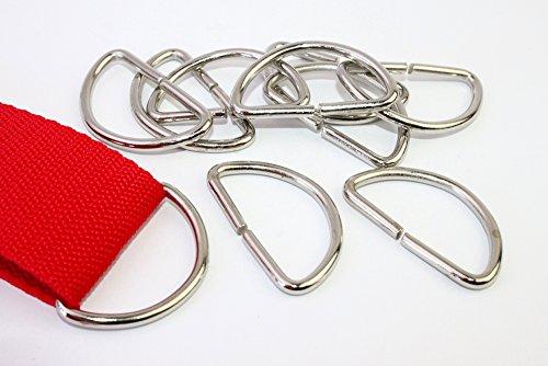 D-Ringe 10 Stück 40x20x3,2mm Halbrundringe Stahl