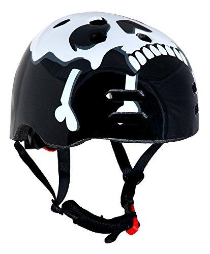Sport Direct she12X Junior BMX Skull Helm, schwarz/weiß, 55–59cm (mittel)