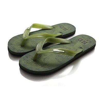 Slippers & amp da uomo;Estate slingback gomma casuale piani del tallone sandali Verde Rosso Marrone sandali US9.5 / EU42 / UK8.5 / CN43