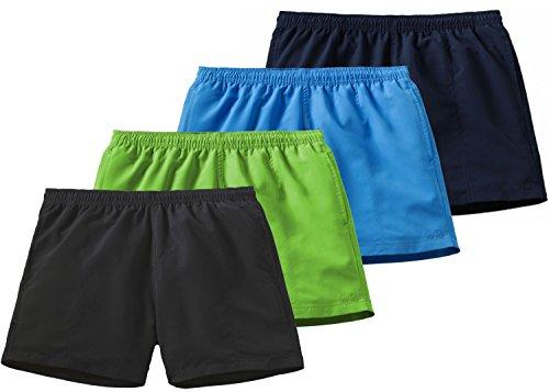Etirel Herren Shorts Ken Badeshorts, Black, XL