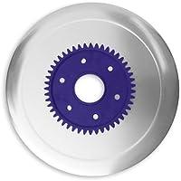 Schinkenmesser elektrolytisch poliert lila für RITTER Multischneider fortis 1, fondo 1, pino 2, E 16, E 18, E19, E 21, E 118, AES / Allesschneider / Messer / Ersatzmesser / Aufschnittmesser